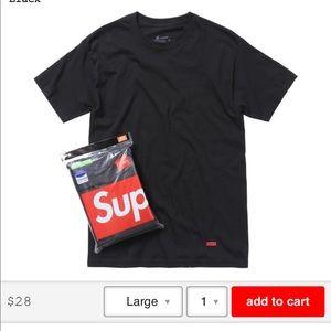 Supreme x Hanes black T shirt